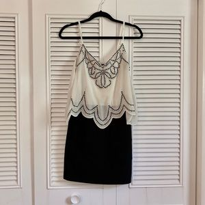 Great Black and White Cocktail Dress
